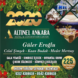 Altınel Hotel Ankara Yılbaşı Programı 2020 Menüsü
