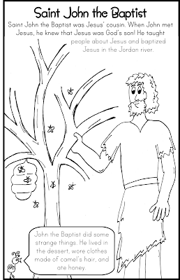 Saint John the Baptist Coloring Page