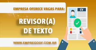 Revisor (a) de Texto
