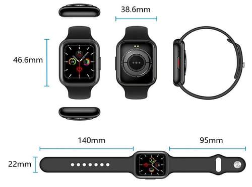 GARINEMAX GM-SWZ6-BL Fitness Tracker Smart Watch