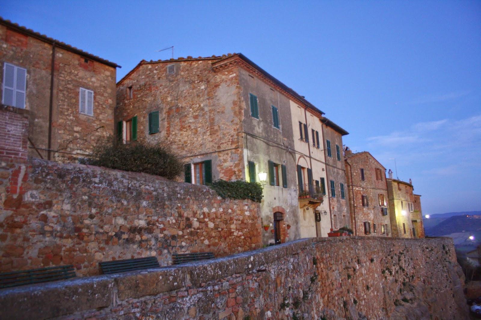 Casas de piedra de las calles de Pienza