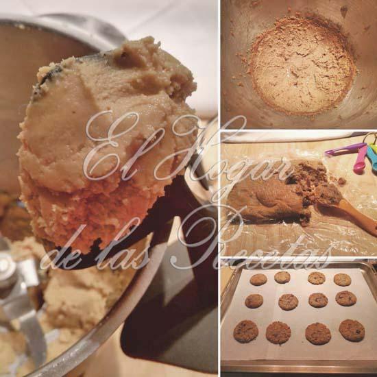 Cookies de cacahuete y chocolate: Etapas de su elaboración