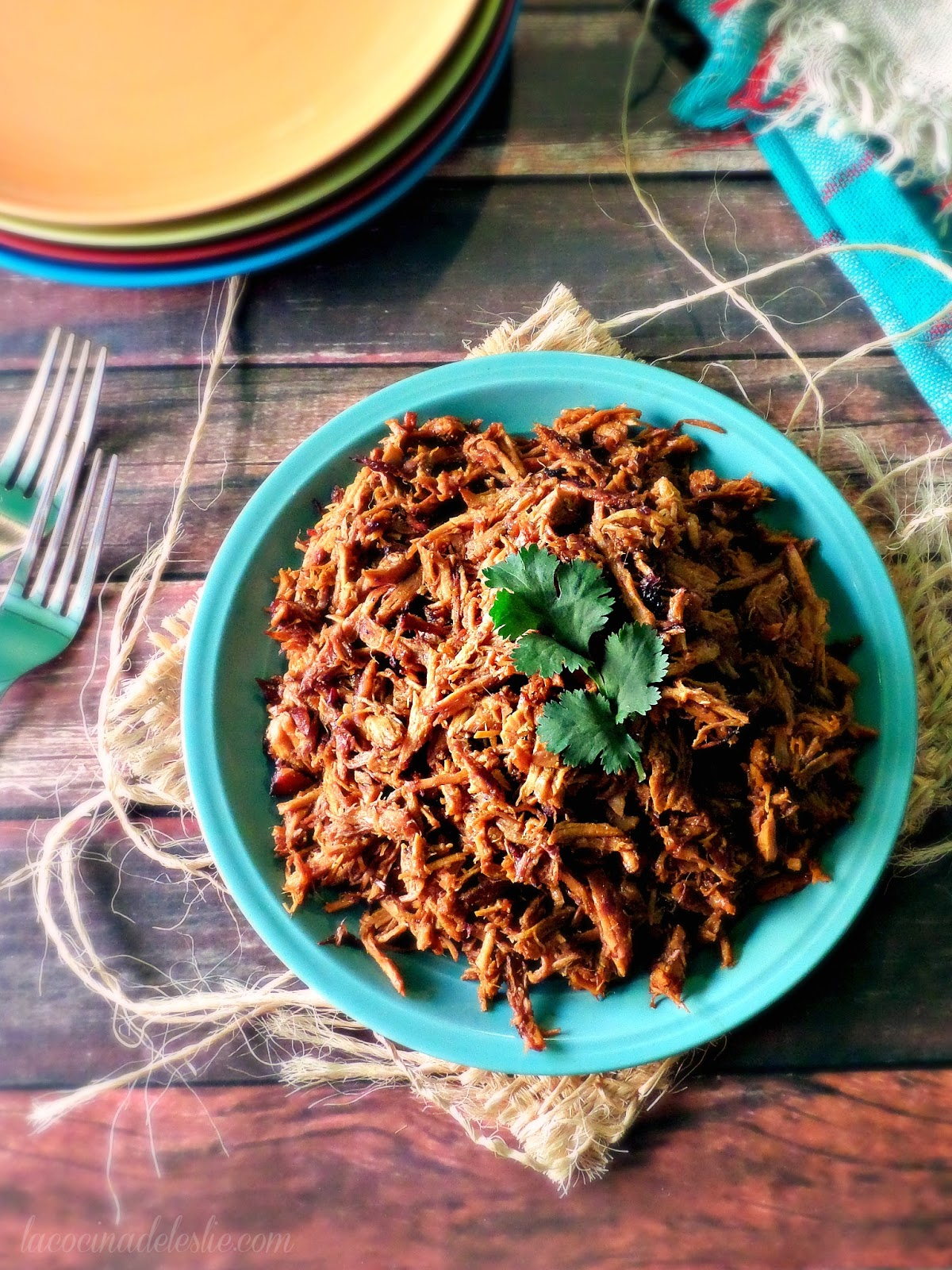 Orange Chipotle Pulled Pork - lacocinadeleslie.com