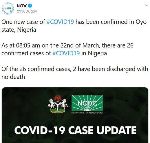 26 coronavirus cases confirmed in Nigeria #Arewapublisize