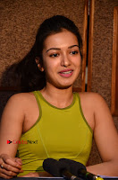 Actress Catherine Tresa Pos during Self Dubbing for Gautham Nanda Movie  0086.JPG