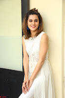 Taapsee Pannu in cream Sleeveless Kurti and Leggings at interview about Anando hma ~  Exclusive Celebrities Galleries 044.JPG
