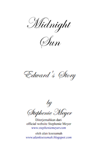 Twilight:Midnight Sun By Stephenie Meyer