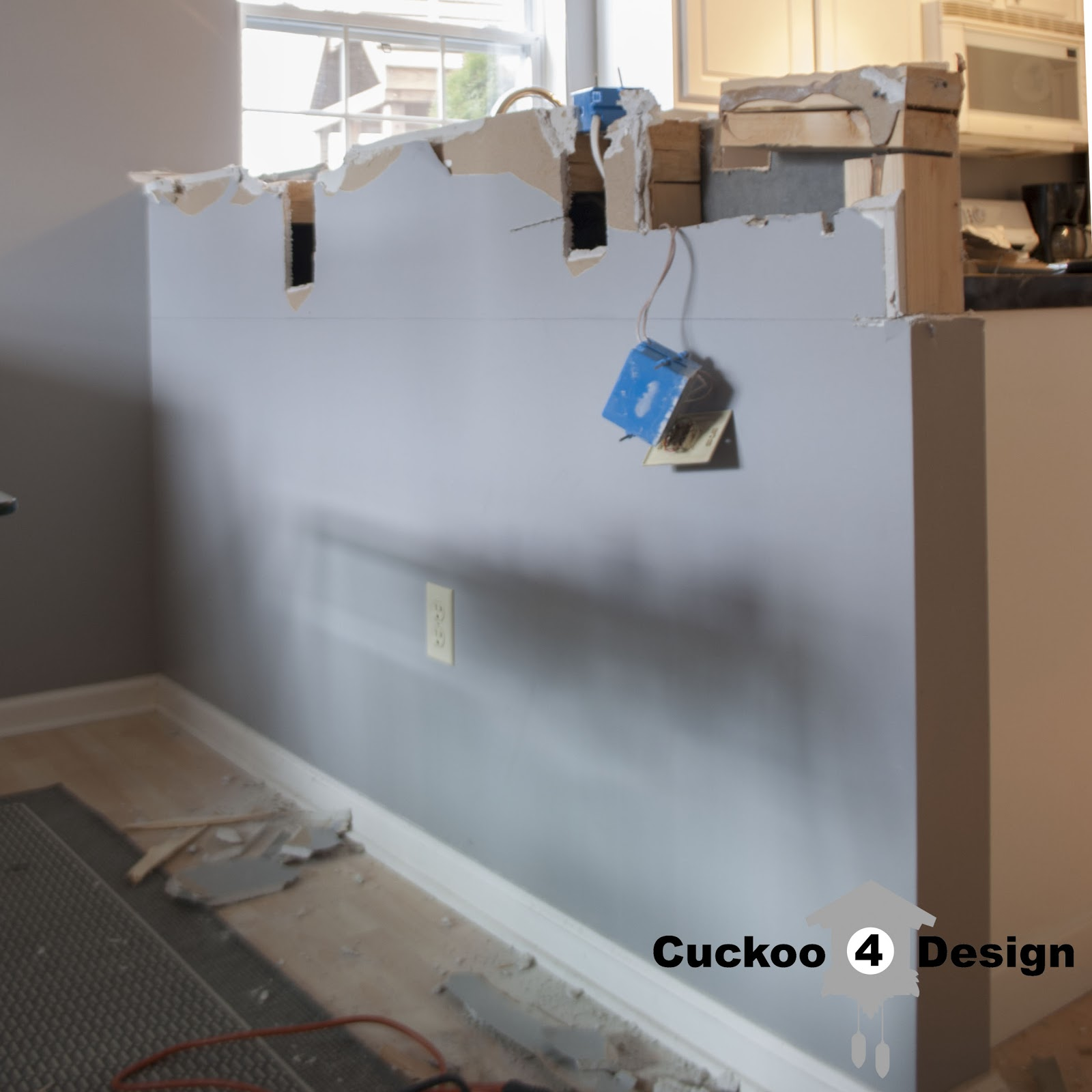 cutting down the kitchen half wall - Cuckoo4Design