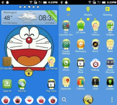 Download Tema Doraemon Untuk Hp Android Oppo Vivo Xiaomi Samsung