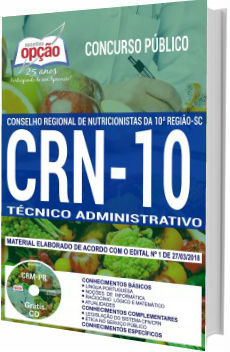 Apostila CRN10 SC 2018 Técnico Administrativo
