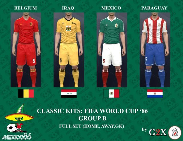 Classic Kits FIFA World Cup PES 2017