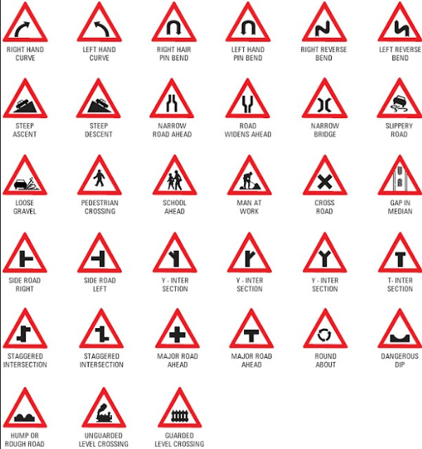 Traffic signs that are cautionary