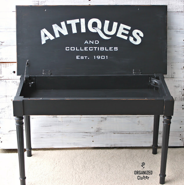 Piano Bench Upcycle with Paint & Stencils #oldsignstencils #upcycle #garagesalemakeover