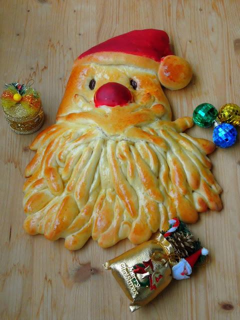 Santa Claus Brioche Bread
