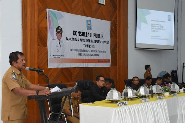 Pemkab Soppeng Konsultasi Publik Rancangan Awal RKPD 2021
