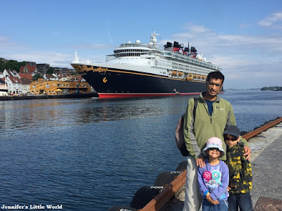 Disney Magic cruise ship docked in Stavanger