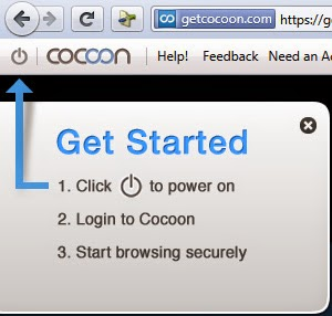 start browsing with cocoon
