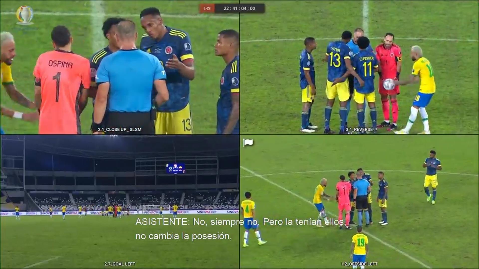VIDEO: El audio del VAR en la polémica jugada del empate de Brasil ante Colombia