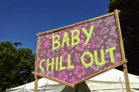 baby chill out sign