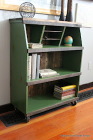 how to makeover an old bookshelf