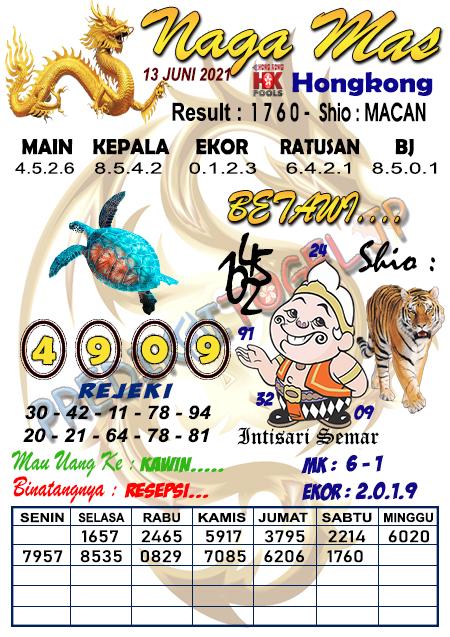 Syair Nagamas HK Minggu 13 Juni 2021