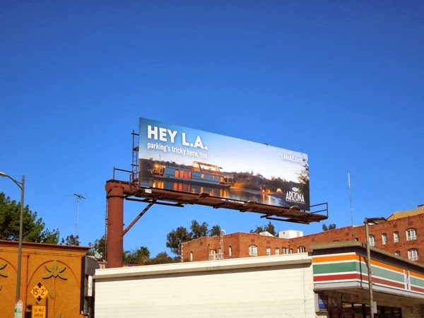 Hey LA Arizona boat billboard