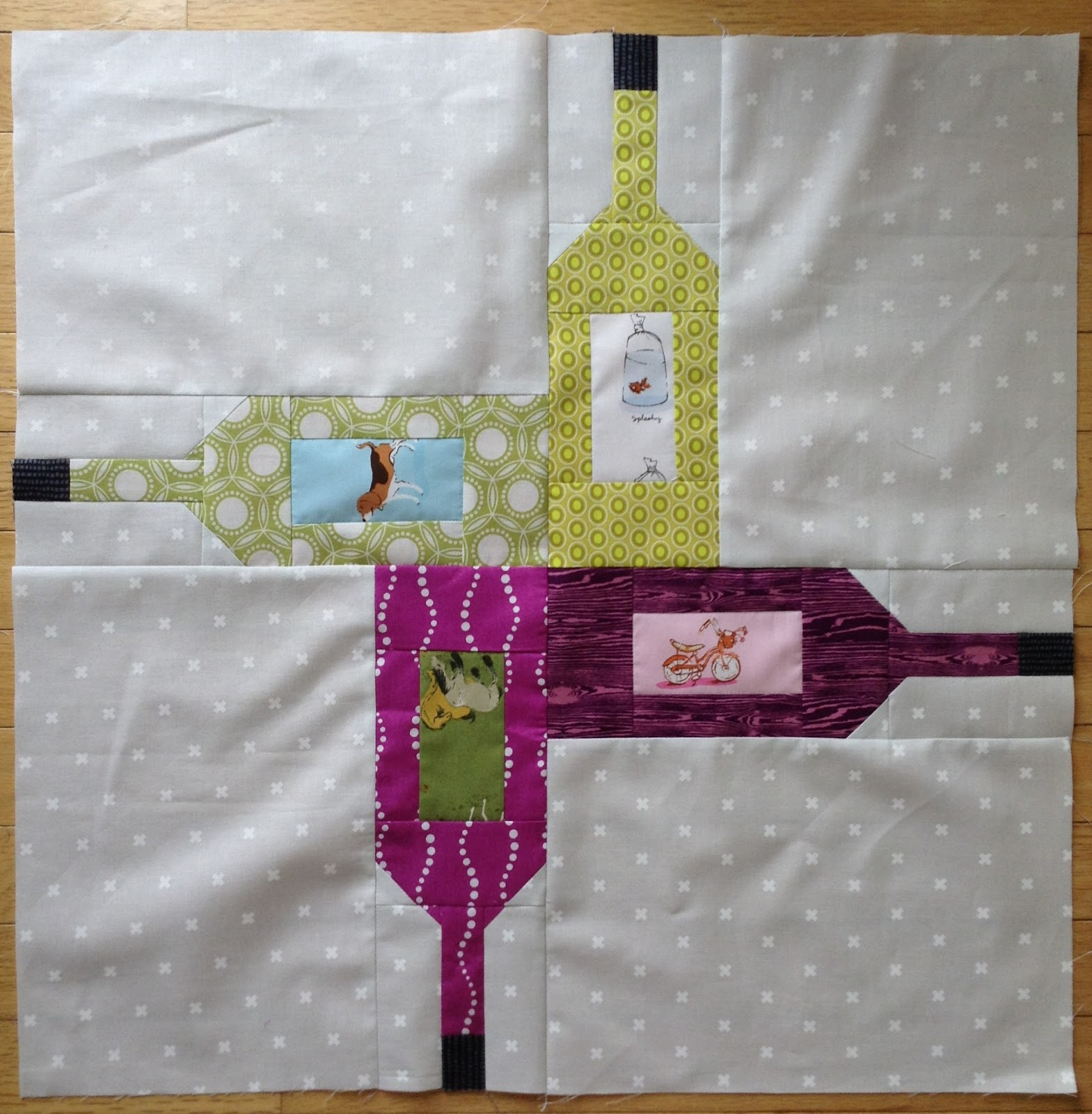 Daydreams Of Quilts Spin The Bottle Block And Lap Quilt