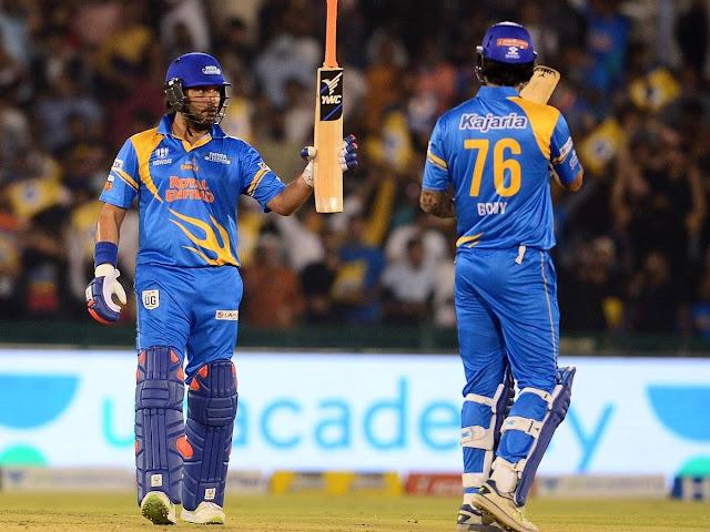 युवराज सिंह ने फिर की छक्कों की बारिश, 13 छक्के जड़ रचा इतिहास, यूसुफ पठान ने गेंदबाजों को दिखाए तारे