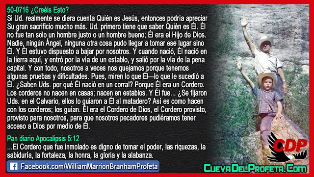 Pecadores pueden tener acceso a Dios por medio de El - Citas William Branham Mensajes