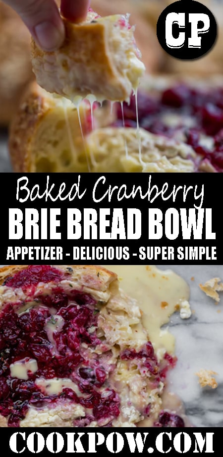 BAKED #CRANBERRY BRIE #BREAD BOWL