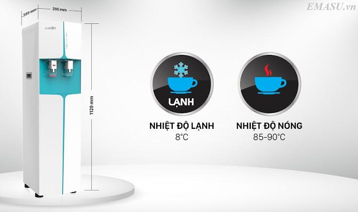 Cây nước nóng lạnh kiêm máy lọc nước RO Karofi HCV362 được trang bị 6 cấp lọc tích hợp công nghệ RO ưu việt, cho nguồn nước sạch tinh khiết