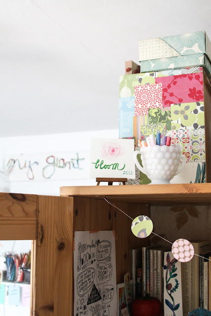 studio, workspace, inspiration, words, reminders, Anne Butera, My Giant Strawberry