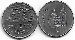 Moeda de 20 Cruzeiros, 1982