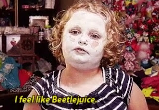 Skincare beauty face mask Honey Boo Boo feels like Beetlejuice