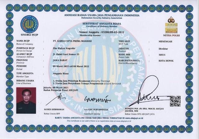 ABUJAPI, KCPM-GUARD Resmi Terdaftar & Memperpanjang Keanggotaanya