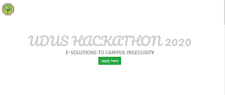UDUS Hackathon Application Form 2020: e-Solutions to Campus Insecurity