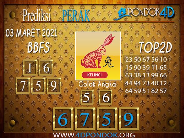 Prediksi Togel PERAK PONDOK4D 03 MARET 2021