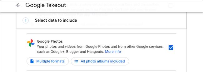 مكتبة صور Google الاحتياطية باستخدام Takeout