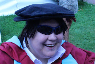 Look at this silly hat. Isn't it great? Proof that I really did a PhD.