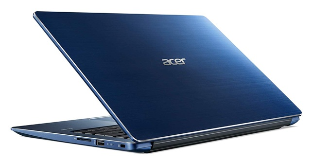 Acer Swift 3 SF314-56G-79D1: portátil Core i7 con gráfica GeForce MX250 y Windows 10 Home