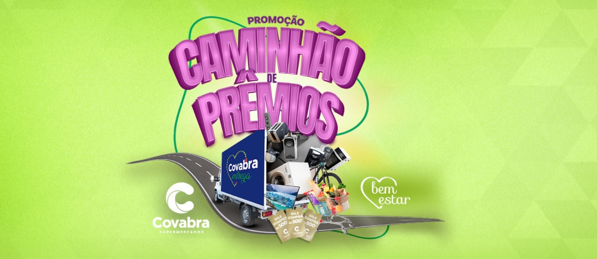 Promoção Covabra Sorteio Caminhão de Prêmios