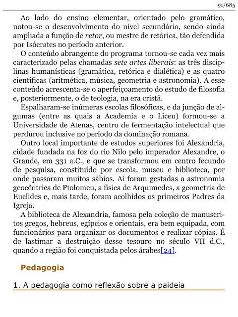 HISTORIA DA EDUCACAO E DA PEDAGOGIA
