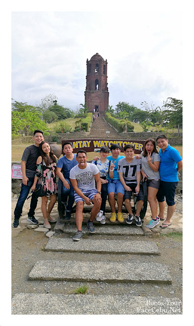 Wacky pose with Cuz and friends at Bantay Bell Tower