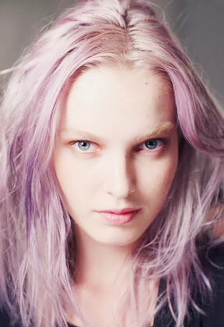 pink and violet ombre hairstyles