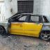 Carro é incendiado em Crato; suspeito preso é um policial militar