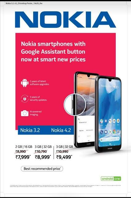Nokia 3.2 and Nokia 4.2 Price Cut