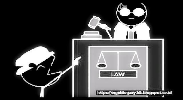 tertawa menghina hakim jaksa hukum lucu