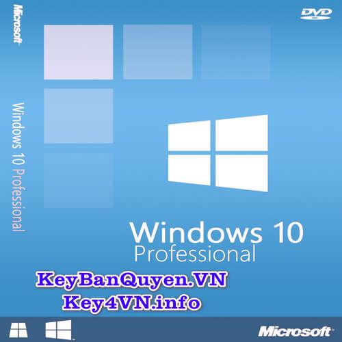 Mua bán key Windows 10 Pro bản quyền Full 32 và 64 Bit.