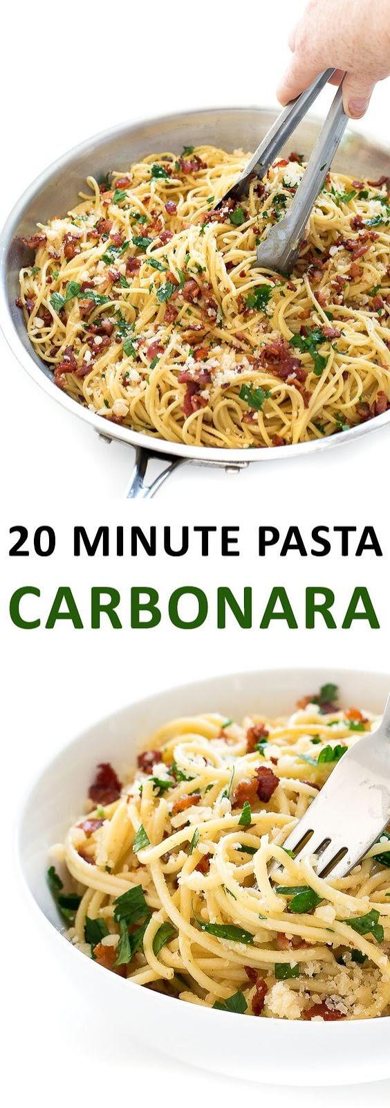 20 MINUTE PASTA CARBONARA