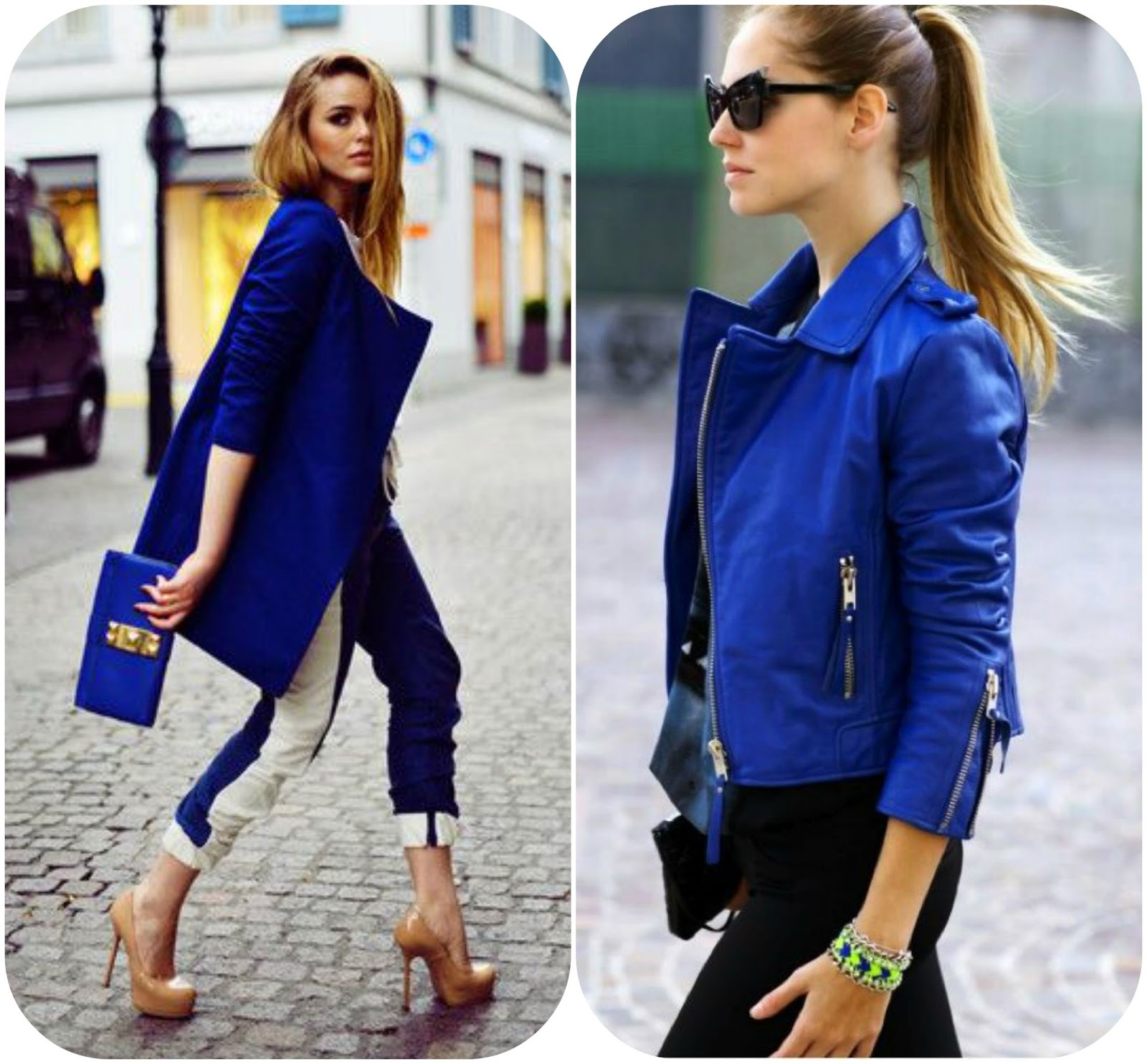 How to wear blue blazers, how to style blue blazers, blue fashion style
